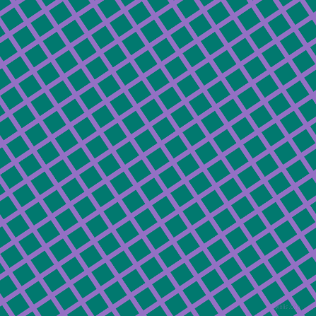 34/124 degree angle diagonal checkered chequered lines, 7 pixel lines width, 24 pixel square size, Lilac Bush and Pine Green plaid checkered seamless tileable