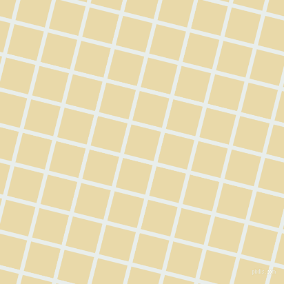 76/166 degree angle diagonal checkered chequered lines, 6 pixel lines width, 44 pixel square size, Lily White and Sidecar plaid checkered seamless tileable