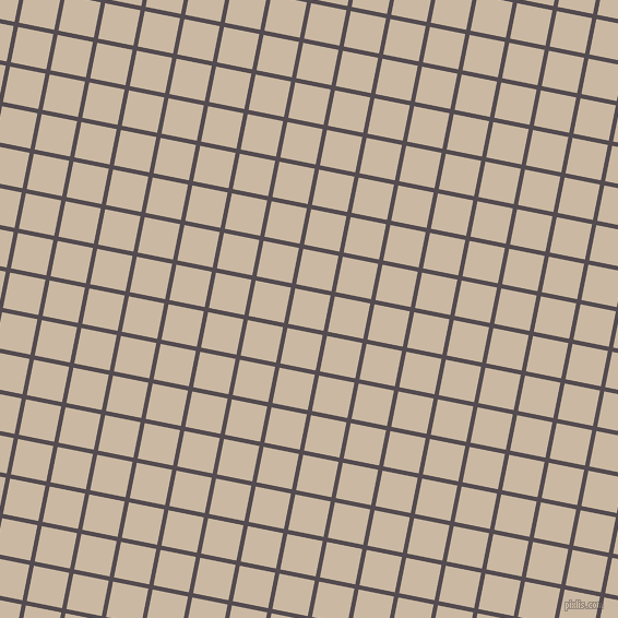 79/169 degree angle diagonal checkered chequered lines, 4 pixel line width, 33 pixel square size, Liver and Grain Brown plaid checkered seamless tileable