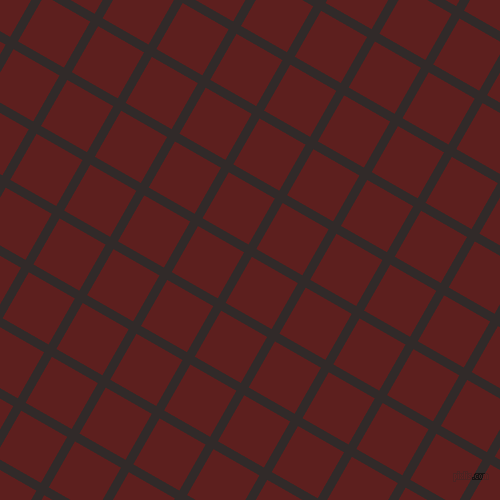 60/150 degree angle diagonal checkered chequered lines, 9 pixel line width, 53 pixel square size, Livid Brown and Red Oxide plaid checkered seamless tileable