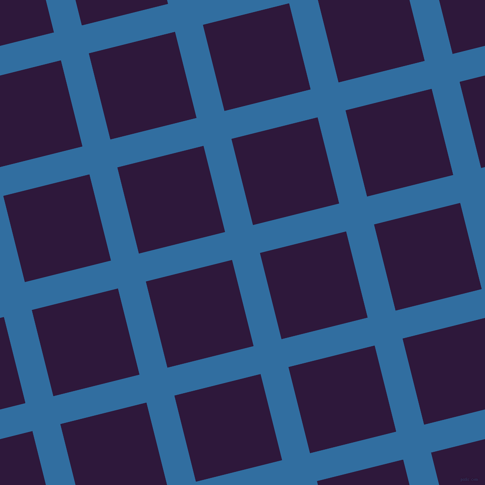 14/104 degree angle diagonal checkered chequered lines, 57 pixel lines width, 176 pixel square sizeLochmara and Blackcurrant plaid checkered seamless tileable
