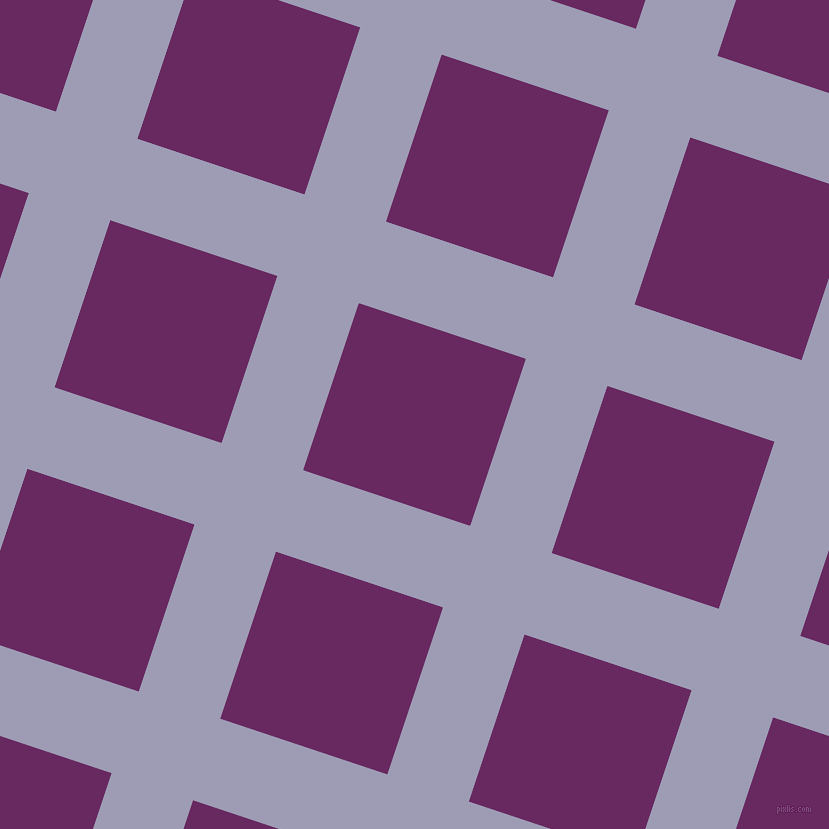 72/162 degree angle diagonal checkered chequered lines, 86 pixel lines width, 176 pixel square size, Logan and Palatinate Purple plaid checkered seamless tileable