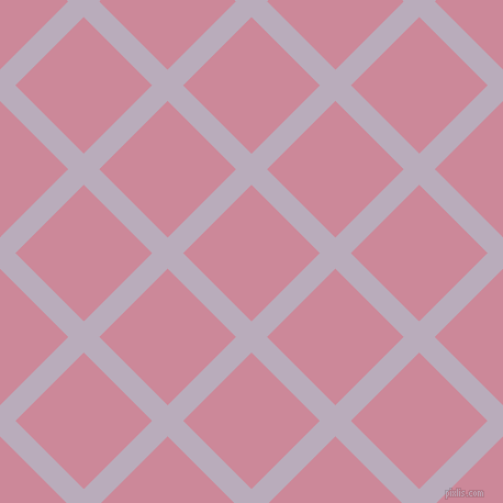 45/135 degree angle diagonal checkered chequered lines, 20 pixel lines width, 88 pixel square size, Lola and Puce plaid checkered seamless tileable