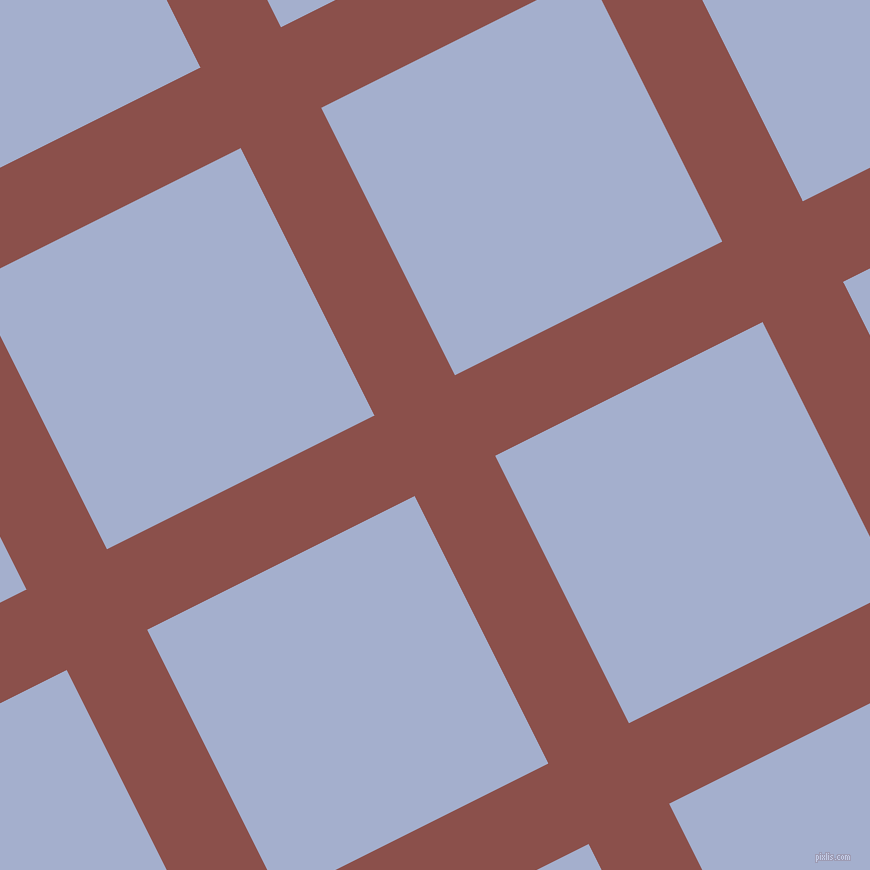 27/117 degree angle diagonal checkered chequered lines, 90 pixel line width, 299 pixel square size, Lotus and Echo Blue plaid checkered seamless tileable