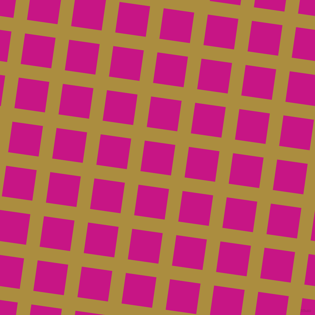 82/172 degree angle diagonal checkered chequered lines, 45 pixel lines width, 101 pixel square size, Luxor Gold and Medium Violet Red plaid checkered seamless tileable