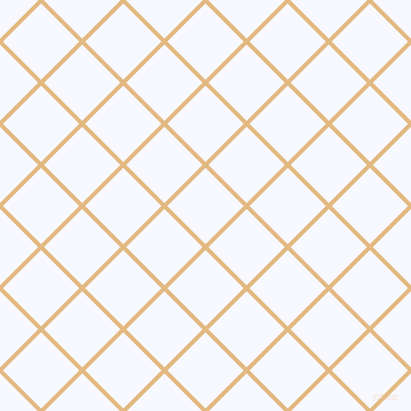 45/135 degree angle diagonal checkered chequered lines, 6 pixel line width, 77 pixel square size, Maize and Ghost White plaid checkered seamless tileable
