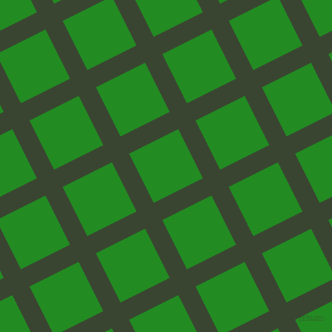 27/117 degree angle diagonal checkered chequered lines, 28 pixel line width, 80 pixel square size, Mallard and Forest Green plaid checkered seamless tileable
