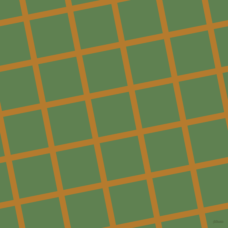 11/101 degree angle diagonal checkered chequered lines, 21 pixel line width, 135 pixel square size, Mandalay and Glade Green plaid checkered seamless tileable