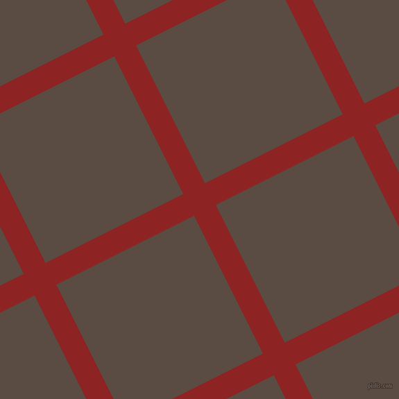 27/117 degree angle diagonal checkered chequered lines, 35 pixel line width, 222 pixel square size, Mandarian Orange and Cork plaid checkered seamless tileable