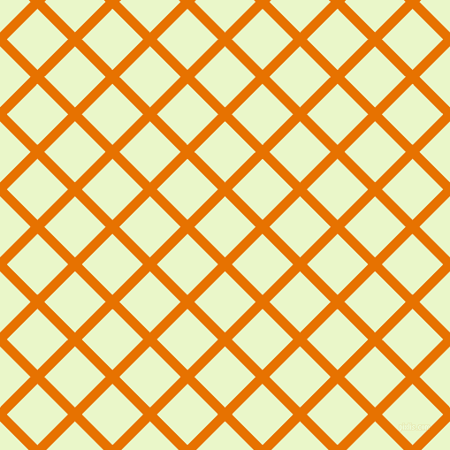 45/135 degree angle diagonal checkered chequered lines, 11 pixel lines width, 49 pixel square size, Mango Tango and Snow Flurry plaid checkered seamless tileable