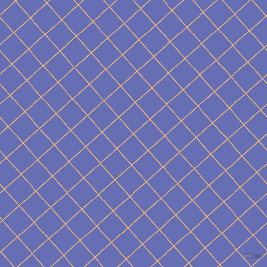 42/132 degree angle diagonal checkered chequered lines, 2 pixel lines width, 43 pixel square size, Manhattan and Chetwode Blue plaid checkered seamless tileable