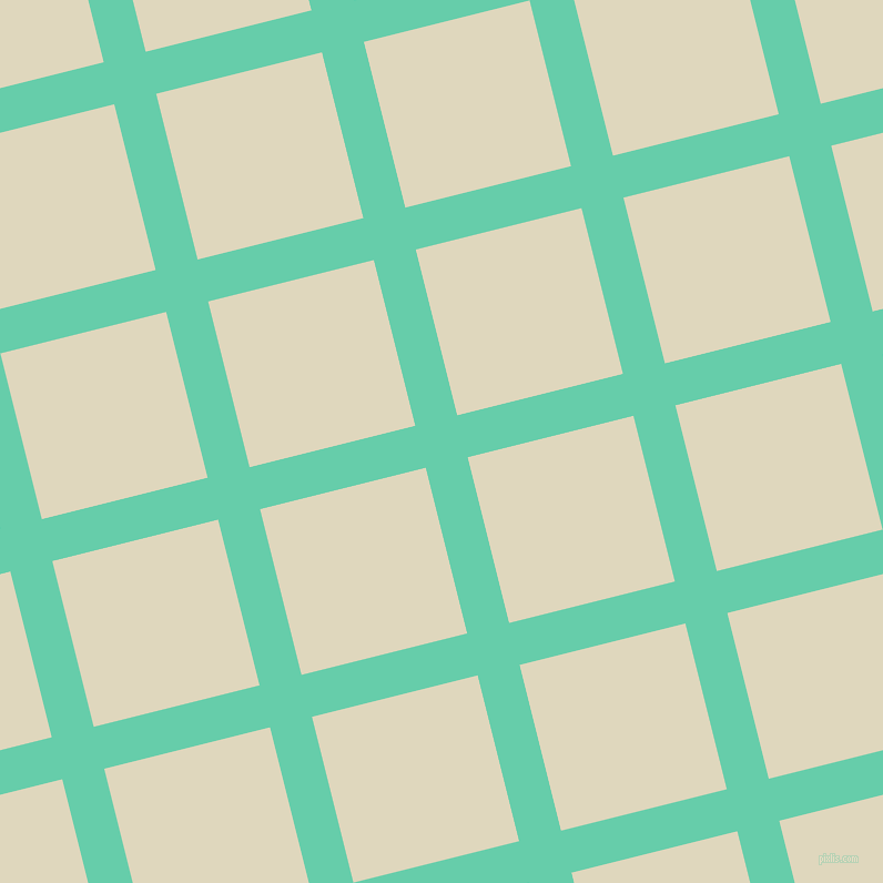 14/104 degree angle diagonal checkered chequered lines, 39 pixel line width, 154 pixel square size, Medium Aquamarine and Wheatfield plaid checkered seamless tileable