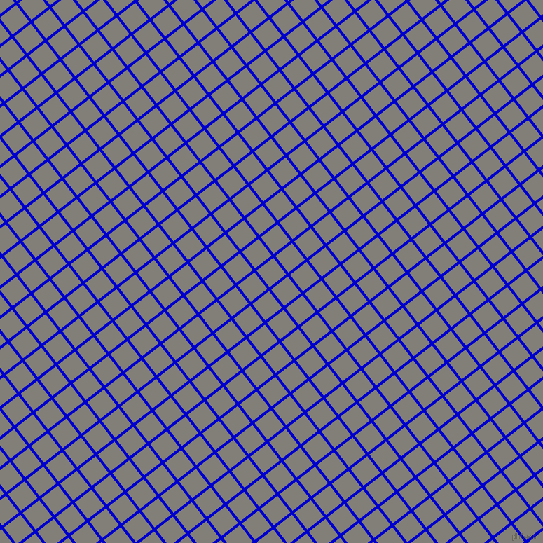 38/128 degree angle diagonal checkered chequered lines, 4 pixel line width, 30 pixel square size, Medium Blue and Concord plaid checkered seamless tileable