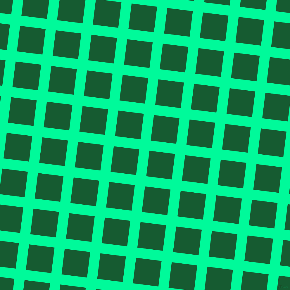 83/173 degree angle diagonal checkered chequered lines, 35 pixel line width, 88 pixel square size, Medium Spring Green and Crusoe plaid checkered seamless tileable
