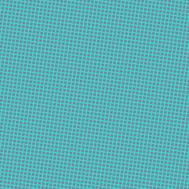 82/172 degree angle diagonal checkered chequered lines, 5 pixel line width, 11 pixel square size, Medium Turquoise and Bermuda Grey plaid checkered seamless tileable