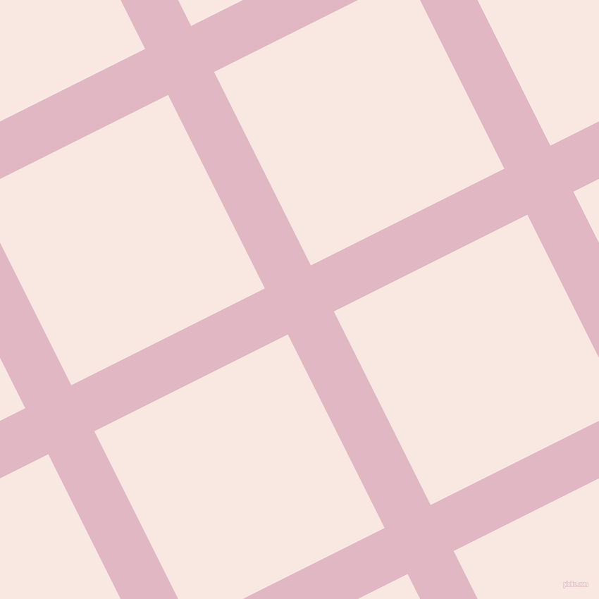 27/117 degree angle diagonal checkered chequered lines, 73 pixel lines width, 307 pixel square size, Melanie and Wisp Pink plaid checkered seamless tileable