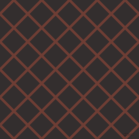 45/135 degree angle diagonal checkered chequered lines, 9 pixel lines width, 60 pixel square size, Metallic Copper and Night Rider plaid checkered seamless tileable