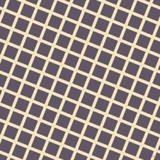 68/158 degree angle diagonal checkered chequered lines, 10 pixel lines width, 38 pixel square size, Milk Punch and Fedora plaid checkered seamless tileable