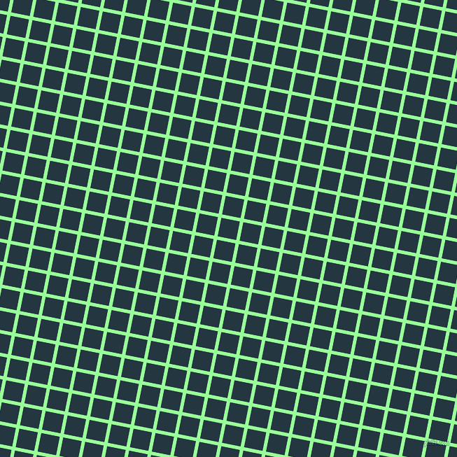 79/169 degree angle diagonal checkered chequered lines, 5 pixel lines width, 27 pixel square size, Mint Green and Elephant plaid checkered seamless tileable