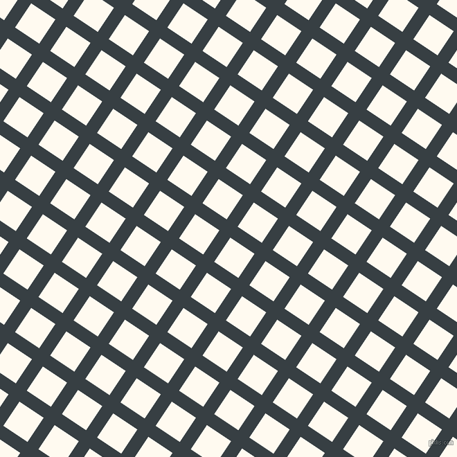 56/146 degree angle diagonal checkered chequered lines, 19 pixel line width, 42 pixel square size, Mirage and Floral White plaid checkered seamless tileable