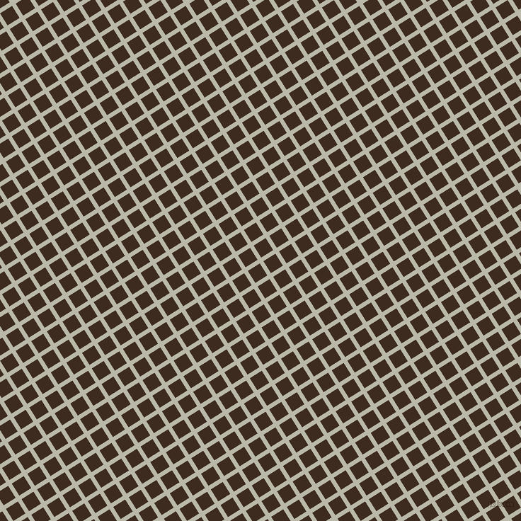 32/122 degree angle diagonal checkered chequered lines, 6 pixel line width, 20 pixel square size, Mist Grey and Bistre plaid checkered seamless tileable