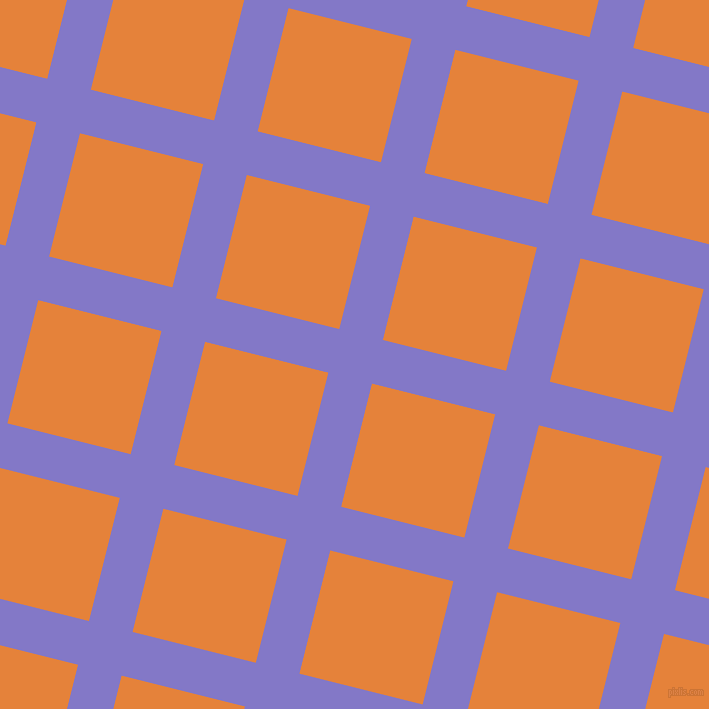 76/166 degree angle diagonal checkered chequered lines, 45 pixel lines width, 127 pixel square size, Moody Blue and West Side plaid checkered seamless tileable