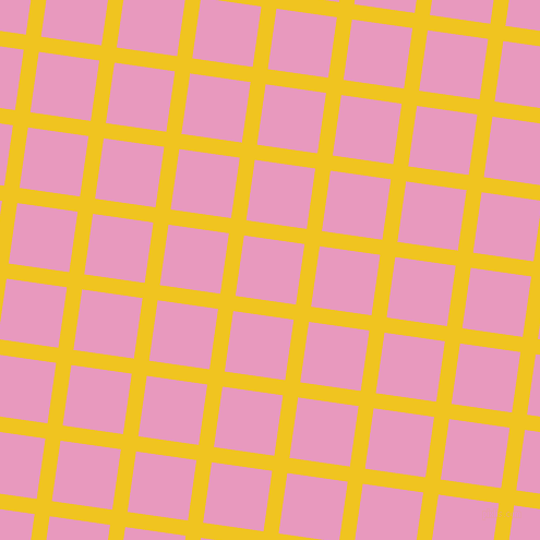 82/172 degree angle diagonal checkered chequered lines, 14 pixel lines width, 56 pixel square size, Moon Yellow and Shocking plaid checkered seamless tileable