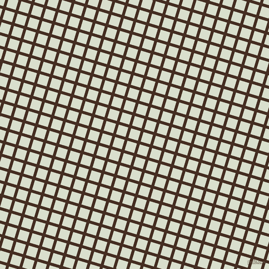 73/163 degree angle diagonal checkered chequered lines, 6 pixel line width, 20 pixel square size, Morocco Brown and Gin plaid checkered seamless tileable