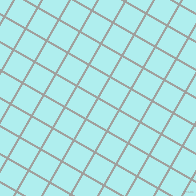 60/150 degree angle diagonal checkered chequered lines, 8 pixel line width, 86 pixel square size, Mountain Mist and Pale Turquoise plaid checkered seamless tileable