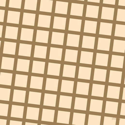 83/173 degree angle diagonal checkered chequered lines, 14 pixel line width, 50 pixel square size, Muesli and Bisque plaid checkered seamless tileable
