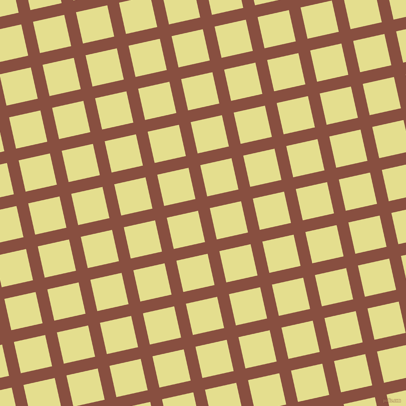 13/103 degree angle diagonal checkered chequered lines, 24 pixel line width, 64 pixel square size, Mule Fawn and Primrose plaid checkered seamless tileable
