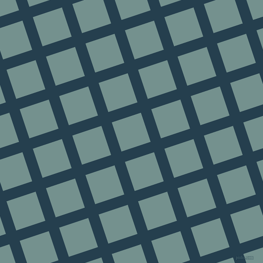 18/108 degree angle diagonal checkered chequered lines, 22 pixel lines width, 62 pixel square size, Nile Blue and Juniper plaid checkered seamless tileable