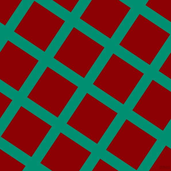 56/146 degree angle diagonal checkered chequered lines, 37 pixel line width, 128 pixel square size, Observatory and Dark Red plaid checkered seamless tileable