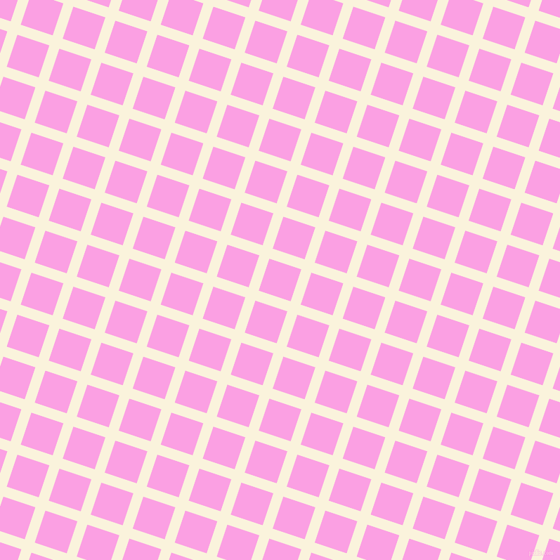 72/162 degree angle diagonal checkered chequered lines, 15 pixel lines width, 48 pixel square size, Off Yellow and Lavender Rose plaid checkered seamless tileable