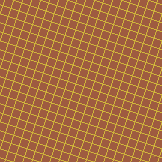72/162 degree angle diagonal checkered chequered lines, 4 pixel lines width, 32 pixel square size, Old Gold and Sepia plaid checkered seamless tileable