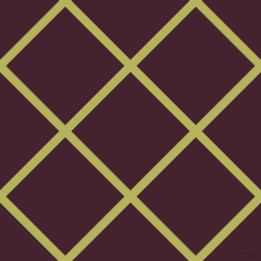 45/135 degree angle diagonal checkered chequered lines, 17 pixel lines width, 168 pixel square size, Olive Green and Castro plaid checkered seamless tileable