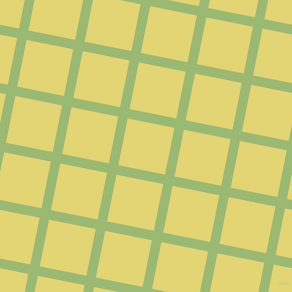 79/169 degree angle diagonal checkered chequered lines, 31 pixel lines width, 153 pixel square size, Olivine and Wild Rice plaid checkered seamless tileable