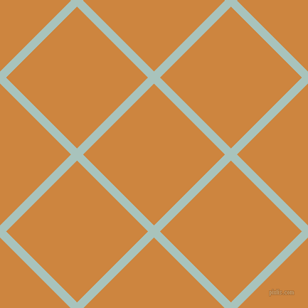 45/135 degree angle diagonal checkered chequered lines, 12 pixel line width, 141 pixel square size, Opal and Peru plaid checkered seamless tileable