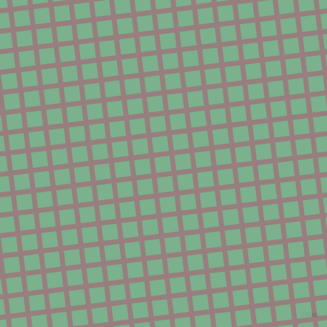 7/97 degree angle diagonal checkered chequered lines, 10 pixel lines width, 31 pixel square size, Opium and Bay Leaf plaid checkered seamless tileable