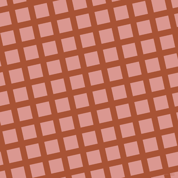 13/103 degree angle diagonal checkered chequered lines, 20 pixel line width, 44 pixel square size, Orange Roughy and Petite Orchid plaid checkered seamless tileable