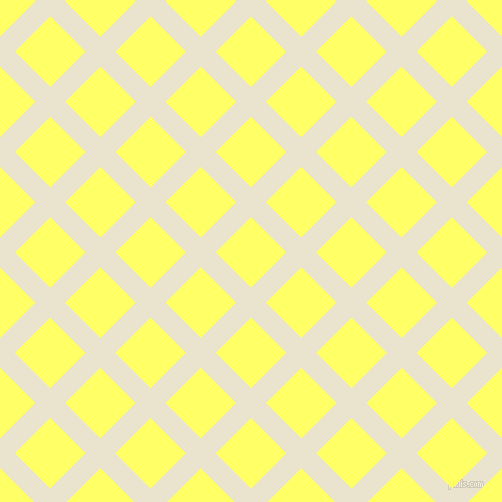 45/135 degree angle diagonal checkered chequered lines, 21 pixel lines width, 50 pixel square size, Orange White and Laser Lemon plaid checkered seamless tileable