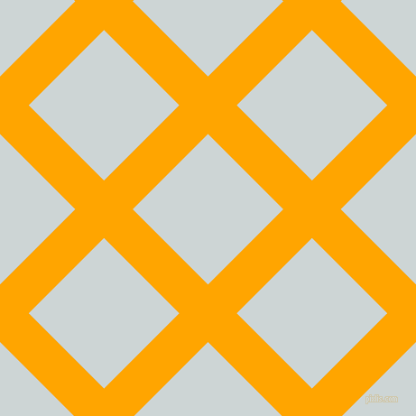 45/135 degree angle diagonal checkered chequered lines, 45 pixel lines width, 118 pixel square size, Orange and Zumthor plaid checkered seamless tileable