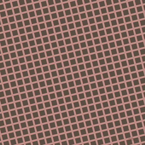 14/104 degree angle diagonal checkered chequered lines, 6 pixel lines width, 17 pixel square size, Oriental Pink and Rock plaid checkered seamless tileable