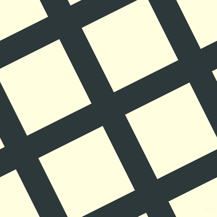 27/117 degree angle diagonal checkered chequered lines, 83 pixel lines width, 239 pixel square size, Outer Space and Light Yellow plaid checkered seamless tileable