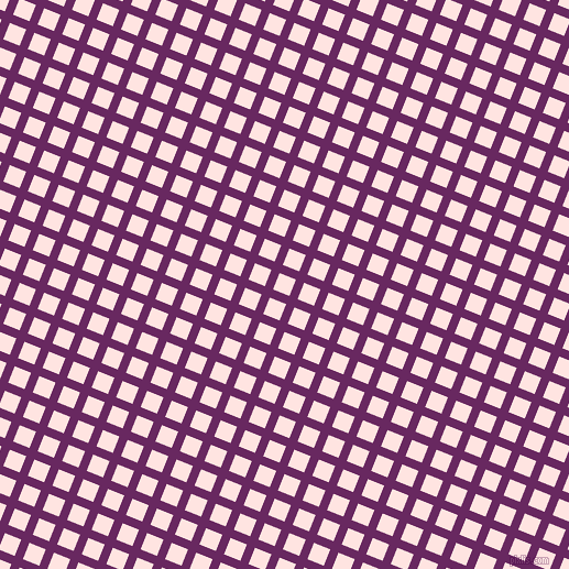 68/158 degree angle diagonal checkered chequered lines, 8 pixel line width, 16 pixel square size, Palatinate Purple and Misty Rose plaid checkered seamless tileable