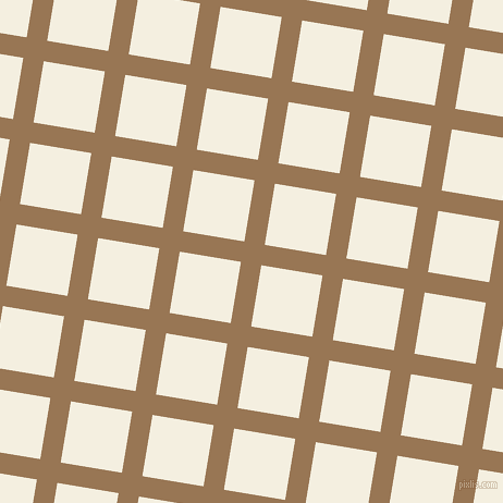 81/171 degree angle diagonal checkered chequered lines, 19 pixel line width, 57 pixel square size, Pale Brown and Bianca plaid checkered seamless tileable