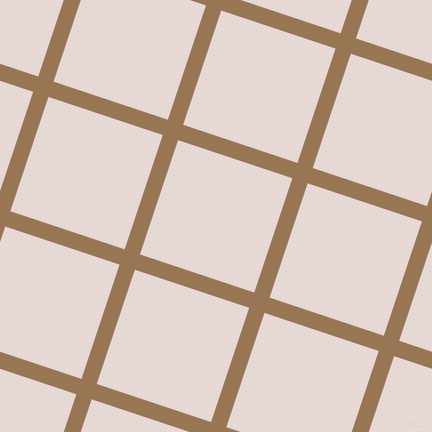 72/162 degree angle diagonal checkered chequered lines, 32 pixel lines width, 239 pixel square size, Pale Brown and Ebb plaid checkered seamless tileable