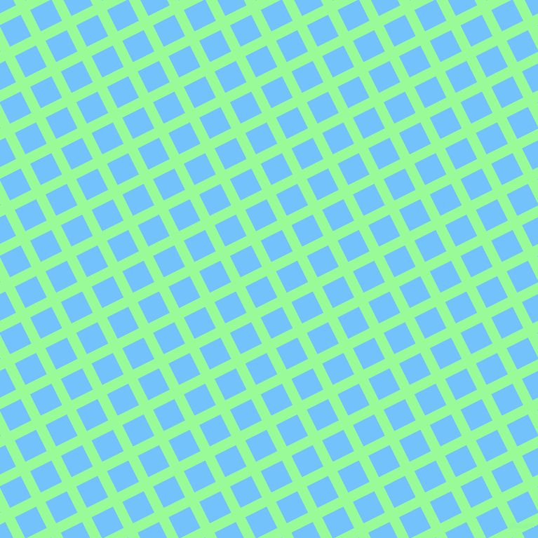 27/117 degree angle diagonal checkered chequered lines, 15 pixel line width, 34 pixel square sizePale Green and Maya Blue plaid checkered seamless tileable