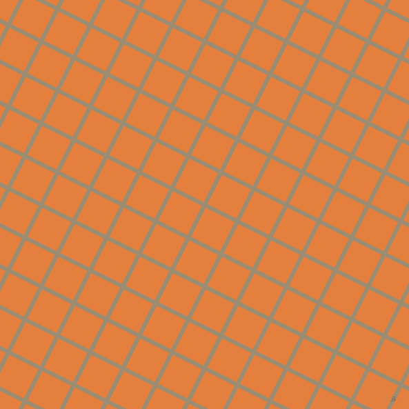 63/153 degree angle diagonal checkered chequered lines, 6 pixel lines width, 47 pixel square size, Pale Oyster and Pizazz plaid checkered seamless tileable