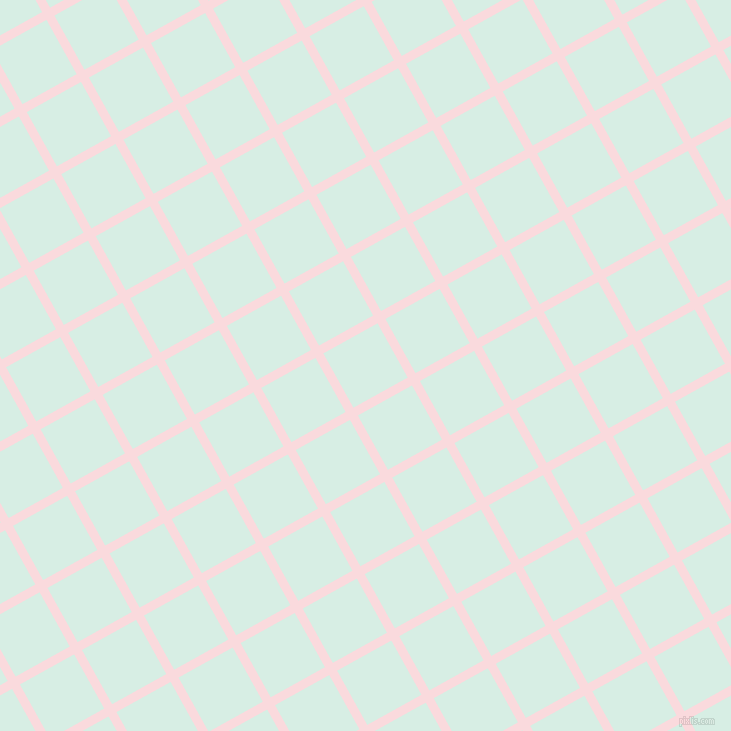 29/119 degree angle diagonal checkered chequered lines, 9 pixel lines width, 62 pixel square size, Pale Pink and White Ice plaid checkered seamless tileable